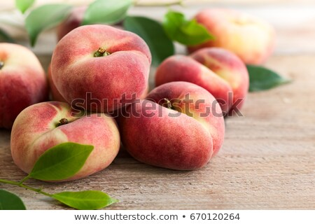 Vegetarian food concept with donut peach Stock photo © TasiPas