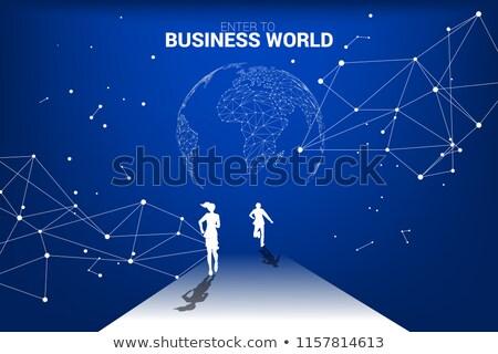Global rekabet gelişme iş çalışmak Stok fotoğraf © serdarduran