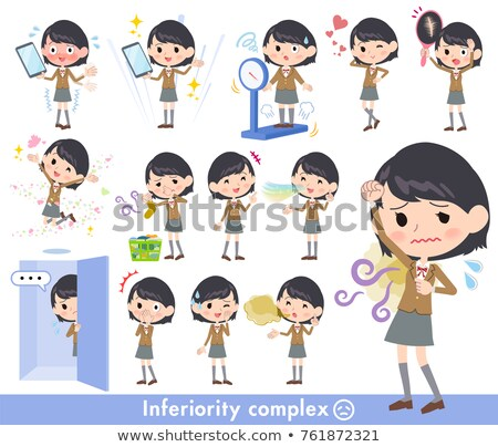 school girl Brown Blazer_complex Stock photo © toyotoyo