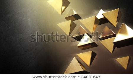 Metal dimensional triangles 3D Stock photo © djmilic