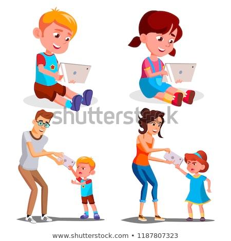 Enfants dépendance vecteur père mère Photo stock © pikepicture