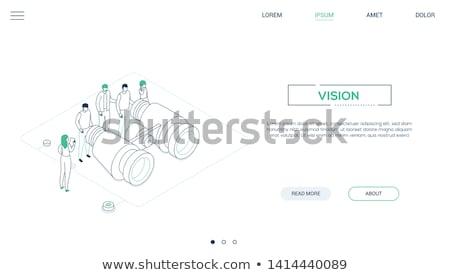 negócio · visão · moderno · isométrica · vetor · teia - foto stock © Decorwithme