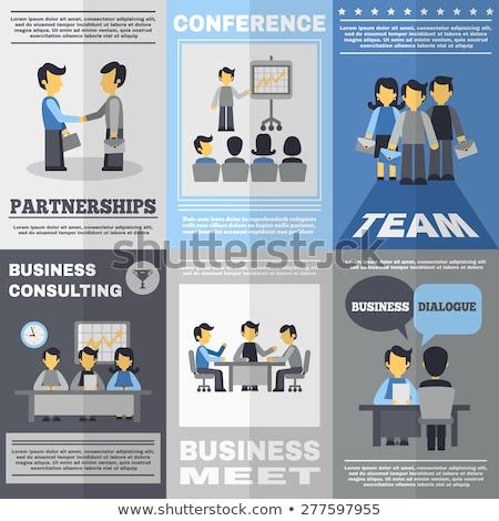 üzleti megbeszélés poszter nyereség bemutató alkalmazottak hallgat Stock fotó © robuart