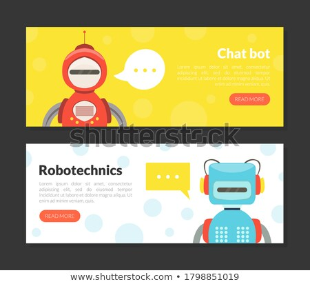 Robot Collection Internet Page Vector Illustration Stock photo © robuart