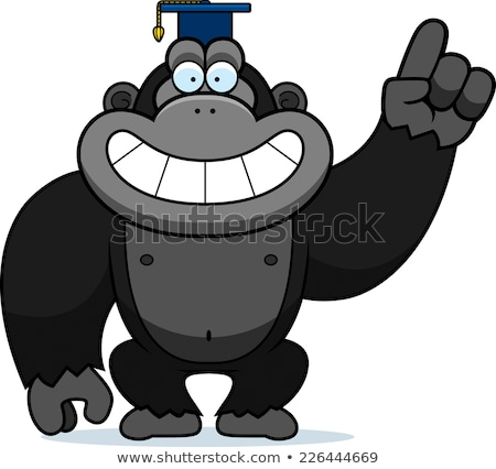 Stok fotoğraf: Karikatür · goril · profesör · örnek · kapak · öğretmen