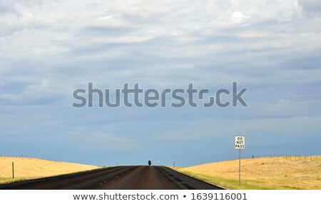 Lone Biker On An Empty Highway Stock photo © monkey_business