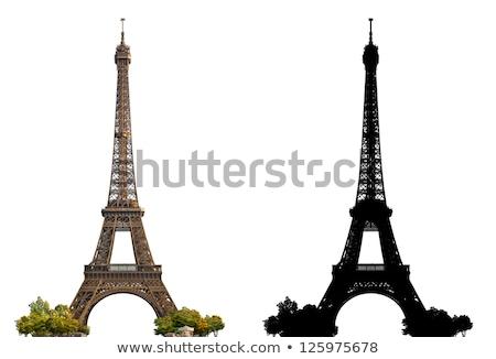 Eyfel Kulesi atlıkarınca gökyüzü bir ikonik Fransa Stok fotoğraf © artfotodima
