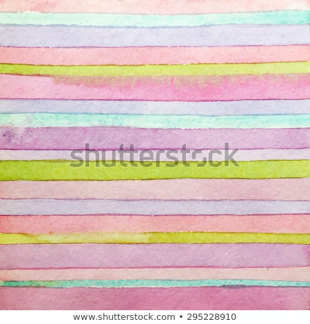 Striped hand drawn watercolor background. Bright colors. Watercolor composition for scrapbook elemen Stock photo © kollibri