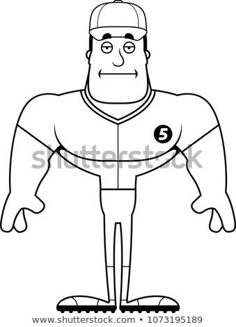 Cartoon Bored Baseball Player  Stock photo © cthoman