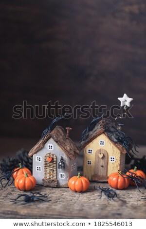 Enchanted pumpkin house in nature Stock photo © colematt