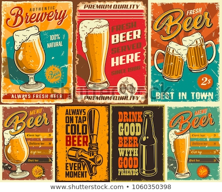Oktoberfest Posters Beer Set Vector Illustration Stock photo © robuart