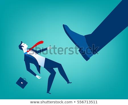 Empresario pie pequeño grande jóvenes Foto stock © ra2studio
