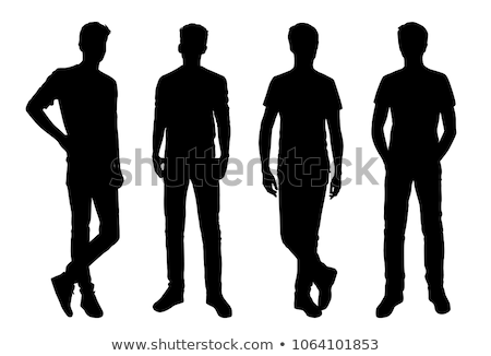 Male Teenager Boy Profile Vector Illustration Stock photo © robuart