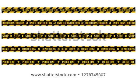 voorzichtigheid · naadloos · waarschuwing · lijn · vector · werk - stockfoto © kyryloff