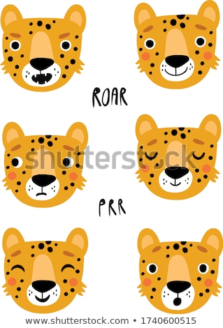 Cartoon Leopard signe illustration blanche Photo stock © cthoman