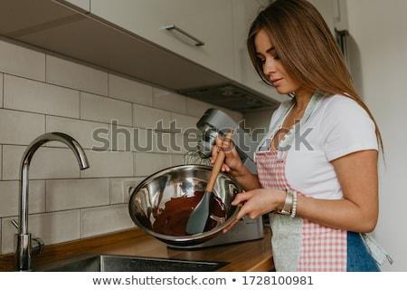 チョコレート · 肖像 · 小さな · 健康 · 女性 · 願望 - ストックフォト © andreypopov