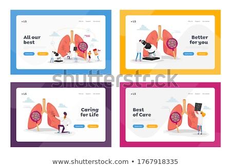 Tuberculosis concept landing page. Stock photo © RAStudio