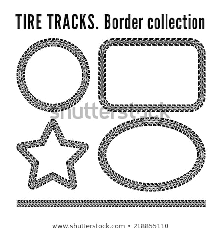 tire track circle frame background stock photo © sarts