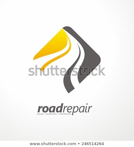Logo drogowego autostrady ścieżka ikona symbol Zdjęcia stock © blaskorizov
