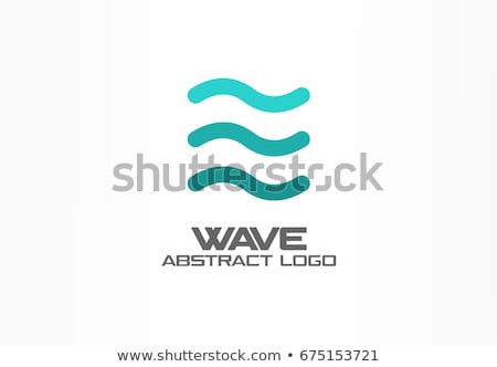 Spiral su dalgalar ikon imzalamak Stok fotoğraf © blaskorizov