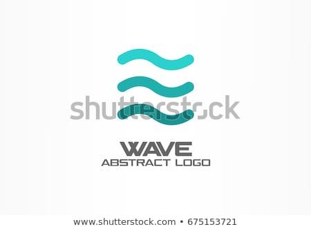 bleu · eau · vague · icône · logo - photo stock © blaskorizov