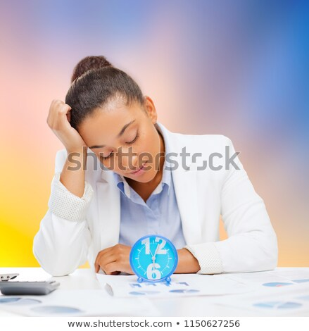 женщину · деловая · женщина · часы · документы · бизнеса · служба - Сток-фото © dolgachov