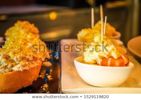 スペイン語 皿 レトロな パーティ パン ストックフォト © neirfy