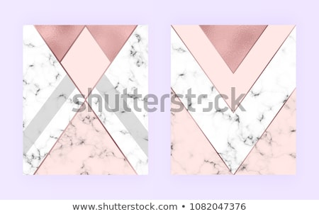 stylish marble business card design with geometric shapes Stock photo © SArts