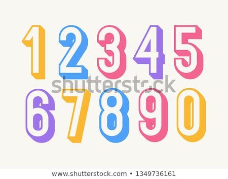 числа · нулевой · направлять · иллюстрация · стороны · фон - Сток-фото © colematt