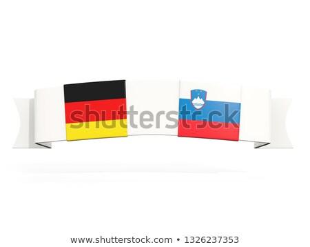 Szalag kettő tér zászlók Németország Szlovénia Stock fotó © MikhailMishchenko