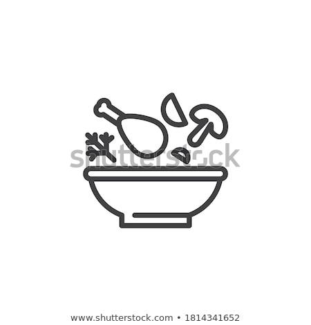 tyúk · húsleves · friss · zöldségek · snidling · étel · levél - stock fotó © szefei