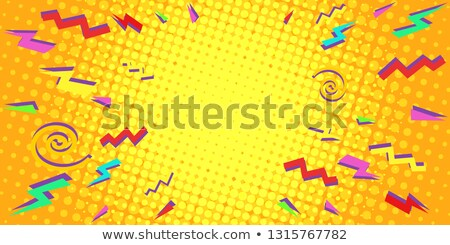 colorful triangles eighties background Stock photo © studiostoks