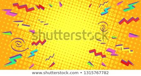 colorful triangles eighties background stock photo © studiostoks