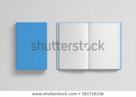 açmak · iki · yüz · dikkat · kitap · beyaz - stok fotoğraf © nuttakit