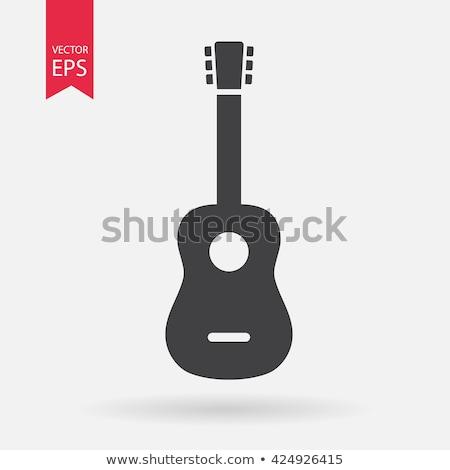 Dizayn ikon akustik gitar ui renkler müzik Stok fotoğraf © angelp