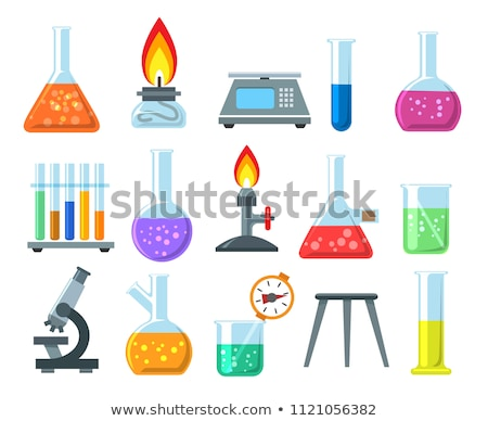 Science beakers with burner Stock photo © colematt