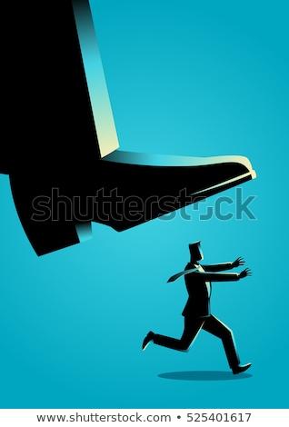бизнесмен паника работает поздно заседание человека Сток-фото © vladacanon