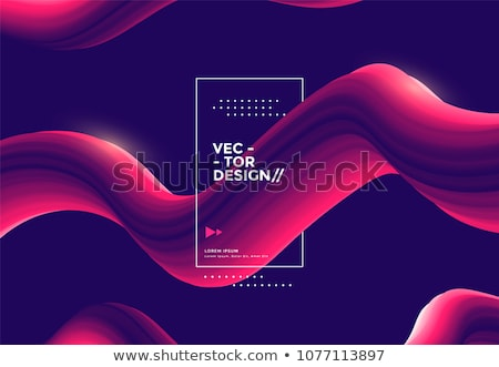 Abstract vloeibare vloeistof vector trillend vorm Stockfoto © pikepicture