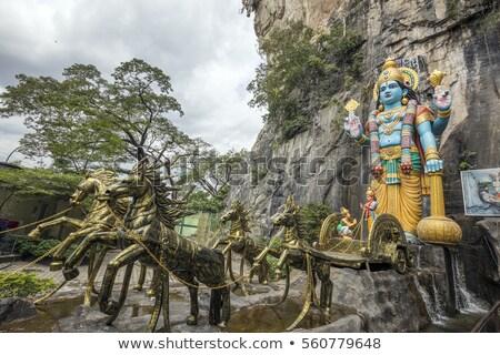 Lord Hanuman statue, at Batu Caves Kuala Lumpur, Malaysia Сток-фото © galitskaya