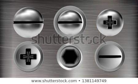 stylu · metaliczny · elementy · projektu · metal - zdjęcia stock © pikepicture