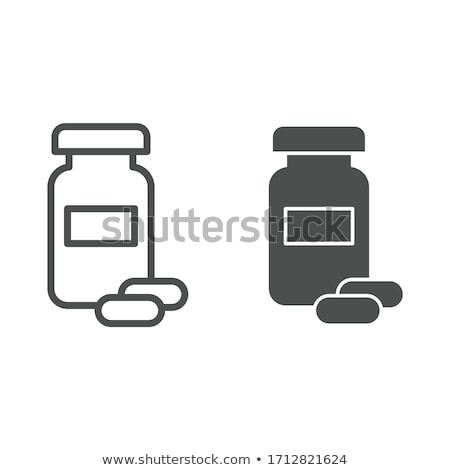 Pills Bottle Vector Icon Stock photo © smoki