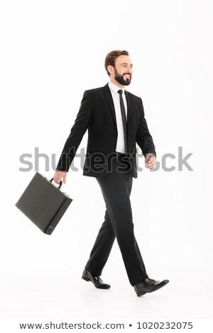 Foto freudige bärtigen Mann 30s Anzug Stock foto © deandrobot