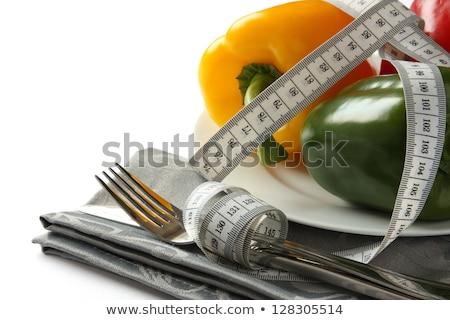 ölçüm · bant · çatal · beyaz · gıda · uygunluk - stok fotoğraf © melnyk