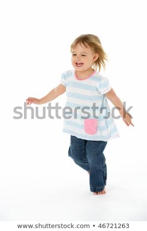 Fiatal lány fut lány gyerekek boldog portré Stock fotó © monkey_business