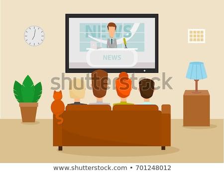 Pareja · viendo · tv · familia · ocio · casa - foto stock © robuart