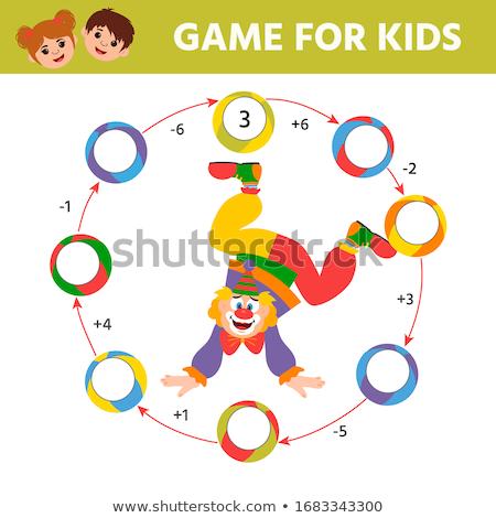 Count number math worksheet Stock photo © colematt