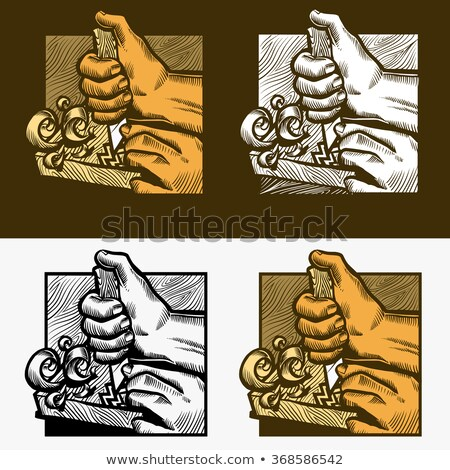 Shaving Knife Carving Tool For Wooden Board Vector Stock photo © pikepicture