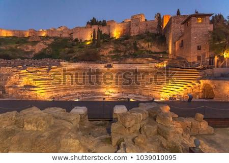 Római színház Malaga város Spanyolország kő Stock fotó © borisb17