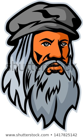 Leonardo da Vinci Head Mascot Stock photo © patrimonio
