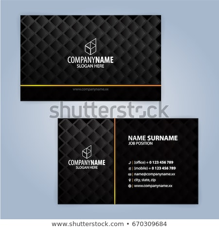 premium luxury business card dark design template Stock photo © SArts